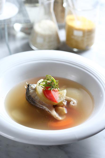 西瓜綿海鱸魚米型麵湯