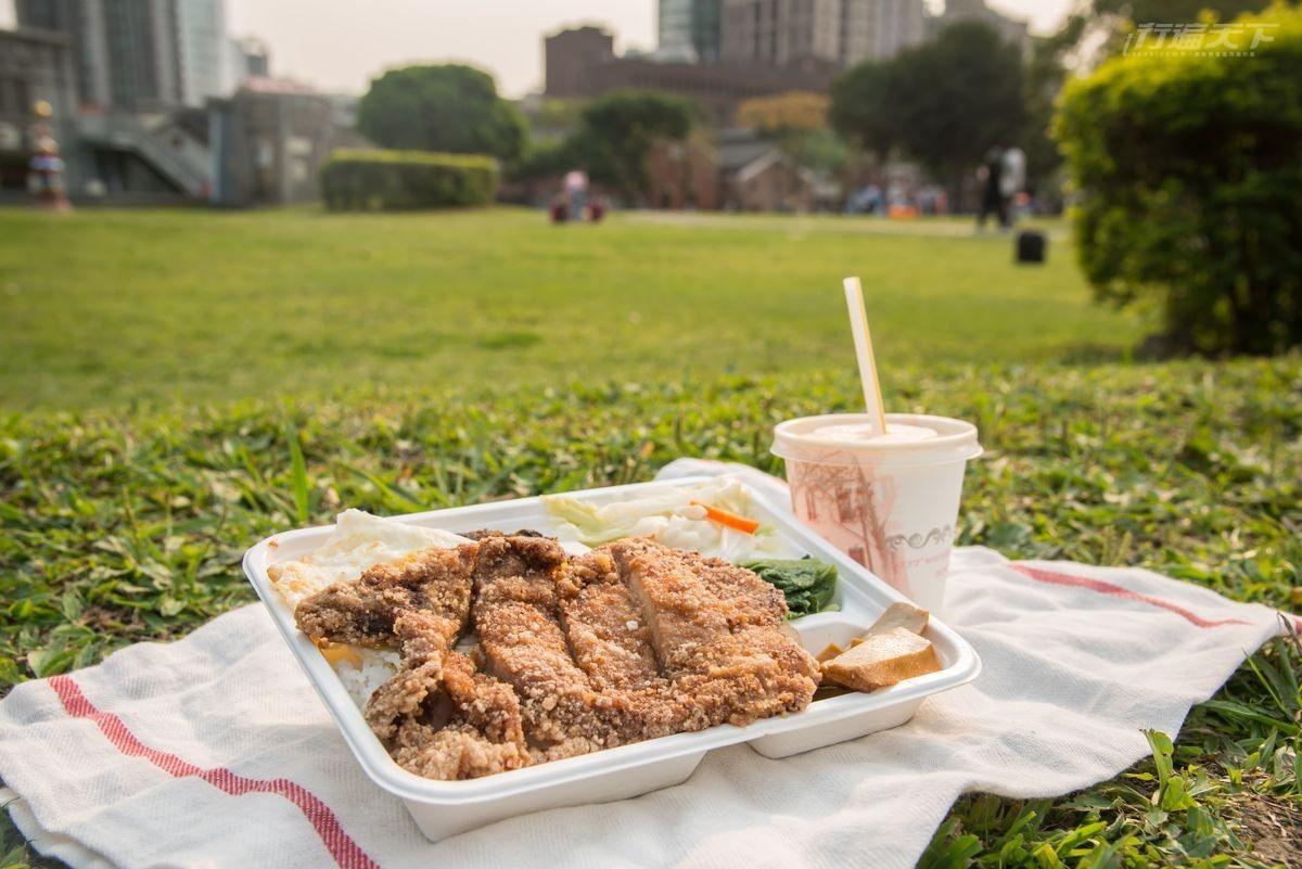 台北,藝人推薦便當,炸大排骨飯,珍蜜咖啡,野餐