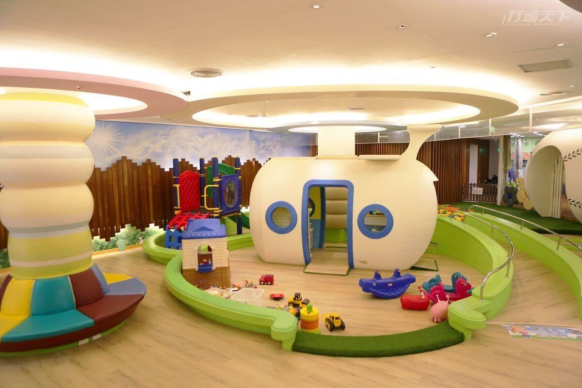 ▲兒童遊戲室讓小朋友盡情放電。