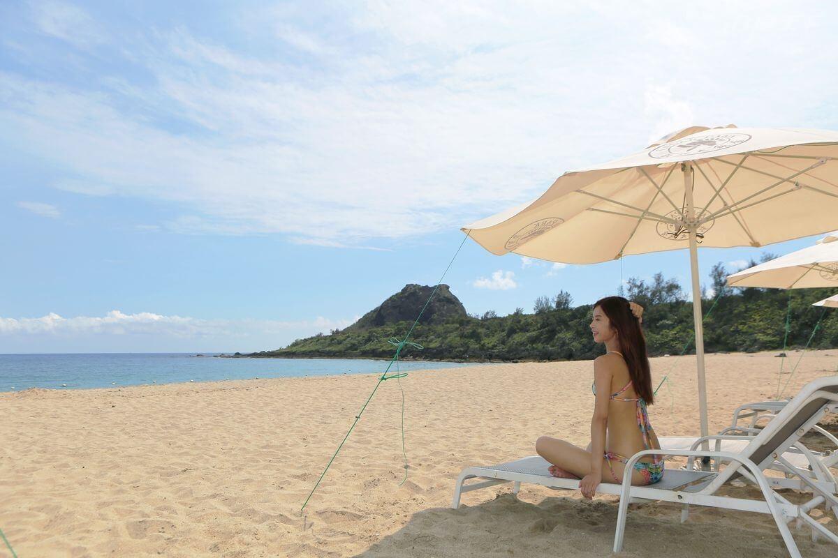 屏東景點|住一晚墾丁凱撒大飯店 專屬沙灘享受日光浴踏踏浪