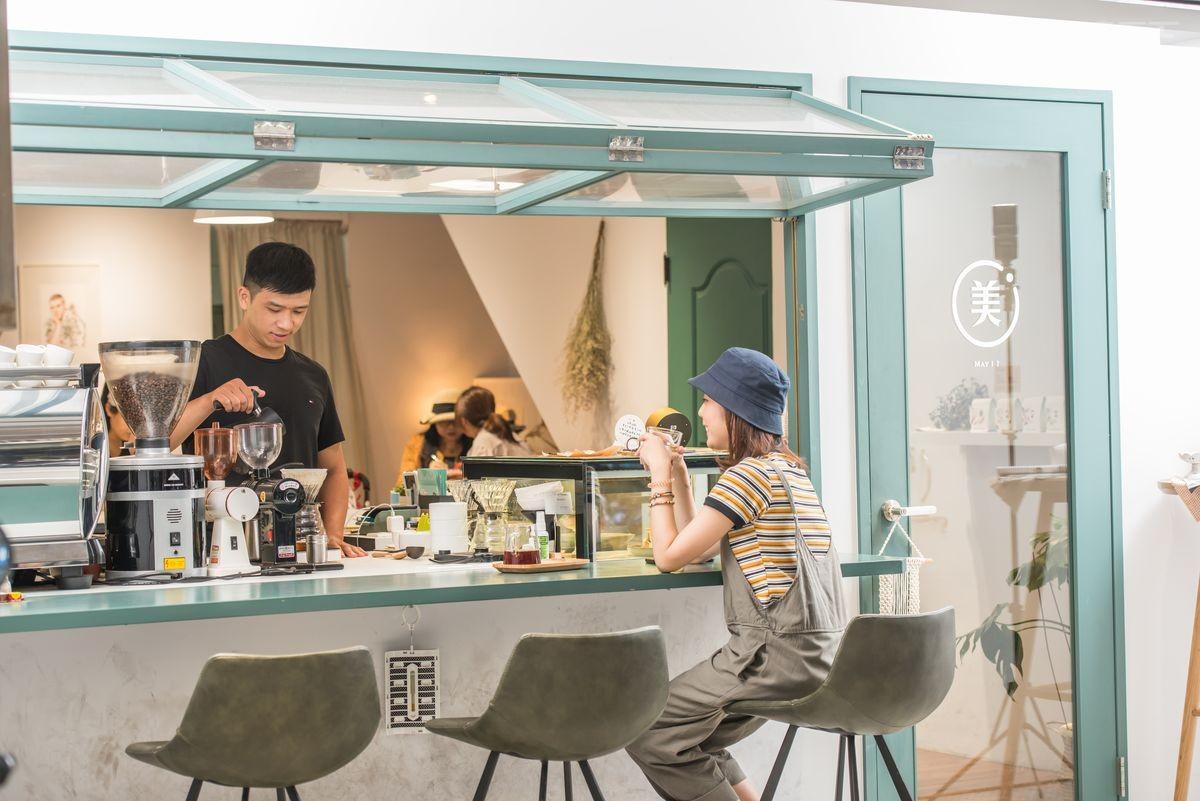 台北,單身友善,美艾咖啡友咖啡廳, 莫蘭迪色