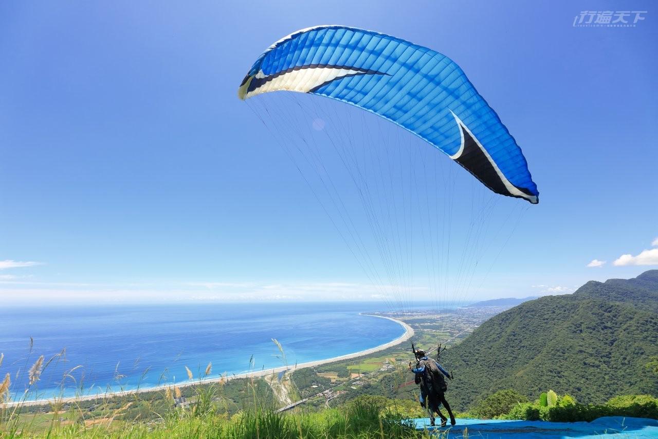 花蓮,飛行傘,清水斷崖,月牙灣,太平洋