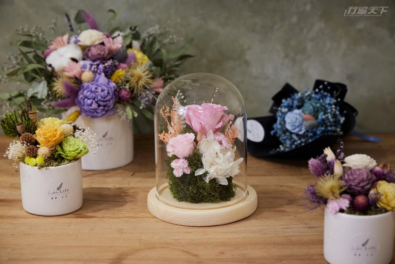 永生花,花藝,DIY,美女與野獸