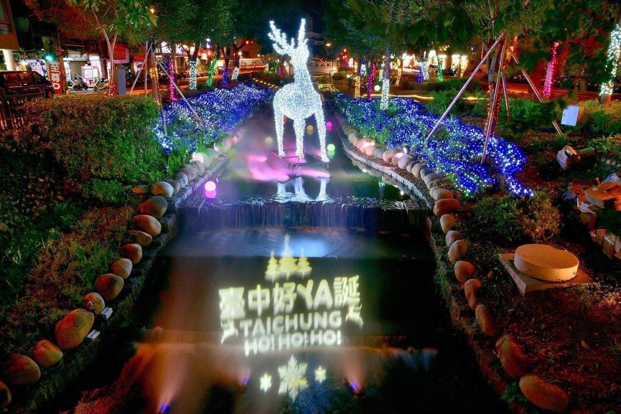 耶誕節,聖誕節,水舞秀,燈光秀,耶誕樹,魔法森林,神獸,馴鹿