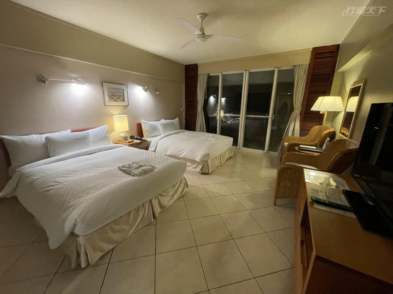 ▲經歷13小時才終於踏進下榻的帛琉老爺飯店。