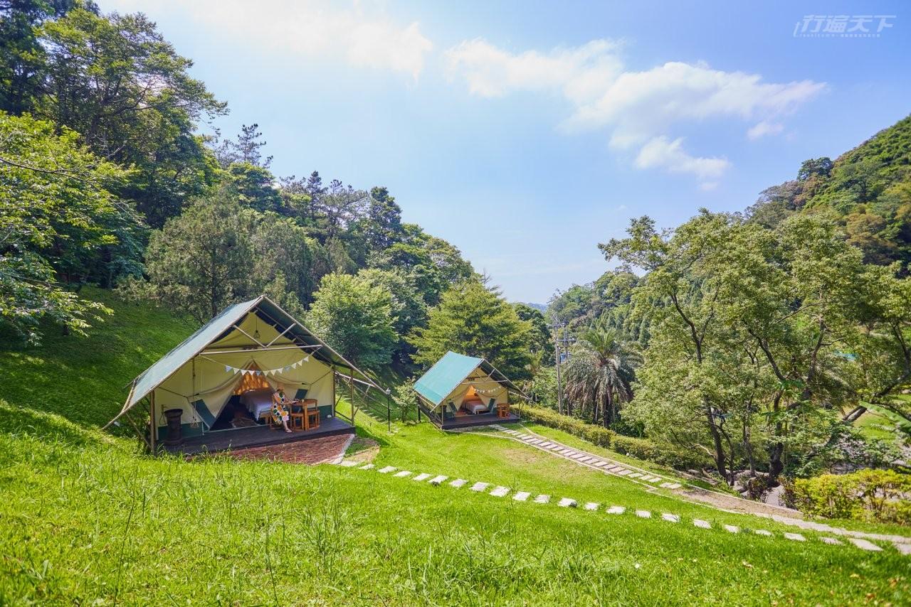 ▲名人都愛,溫馨山谷中的豪華露營地。