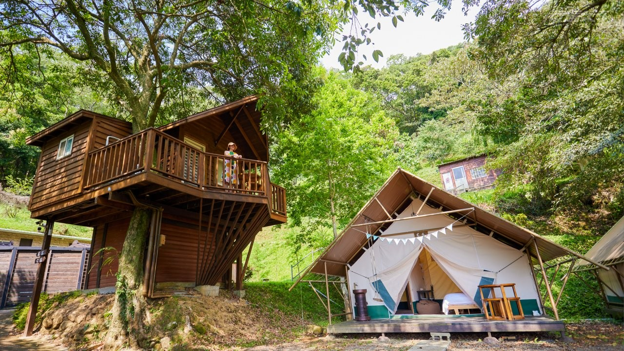 ▲造型特殊的小樹屋,居高臨下可眺望整個山谷美景。
