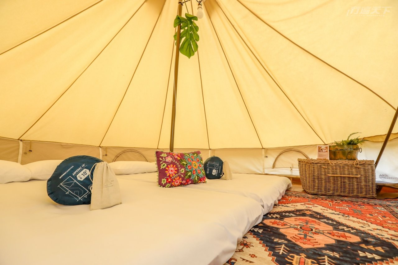 ▲CanvasCamp帳篷內空間挑高寬敞,在立體聲的蟲鳴中入眠是難得體驗。