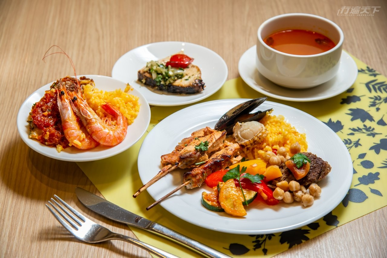 ▲剛推出的地中海料理自助餐,讓人秒出國。