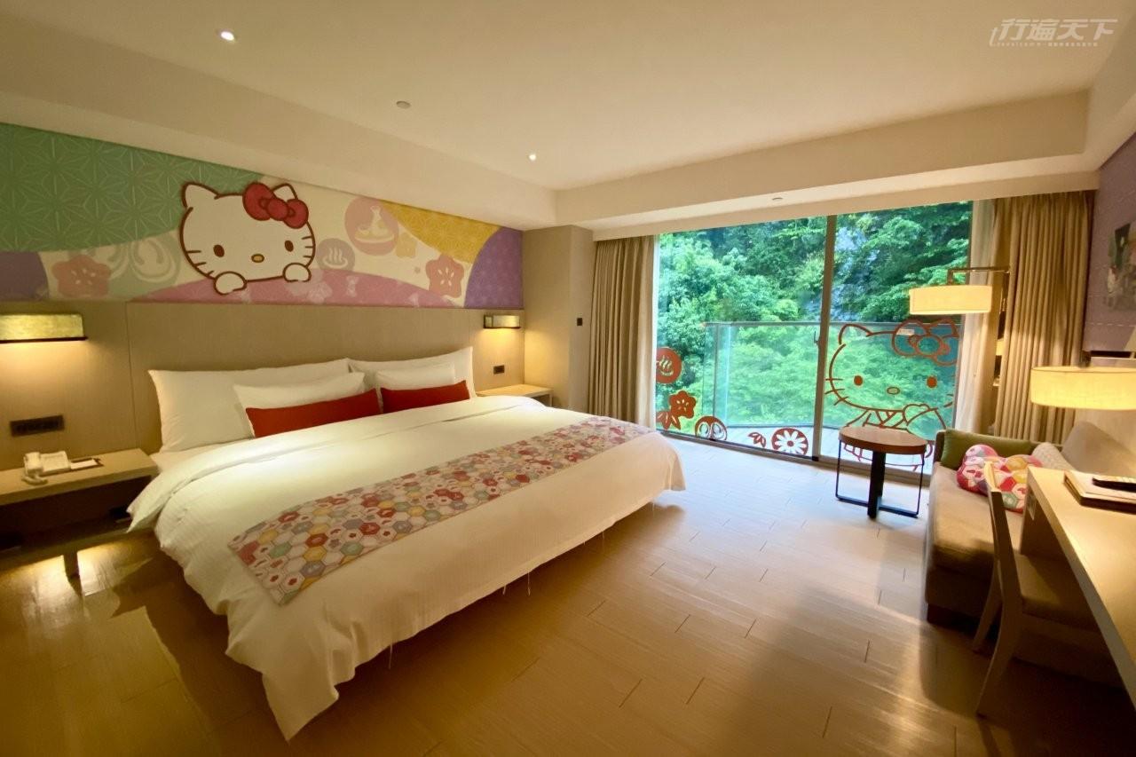 ▲知本金聯世紀酒店的Hello Kitty客房由日本團隊設計。