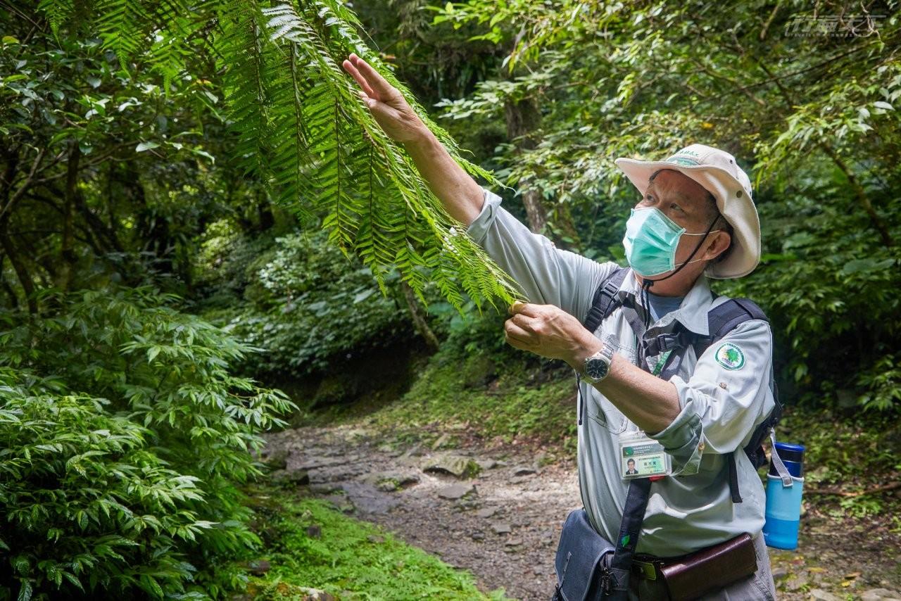▲擔任國家森林志工的蔡木寬老師,抱著對鳥類的熱情推廣,鼓勵大家來此可多觀望溪流聲帶指標的溪澗鳥多樣性。