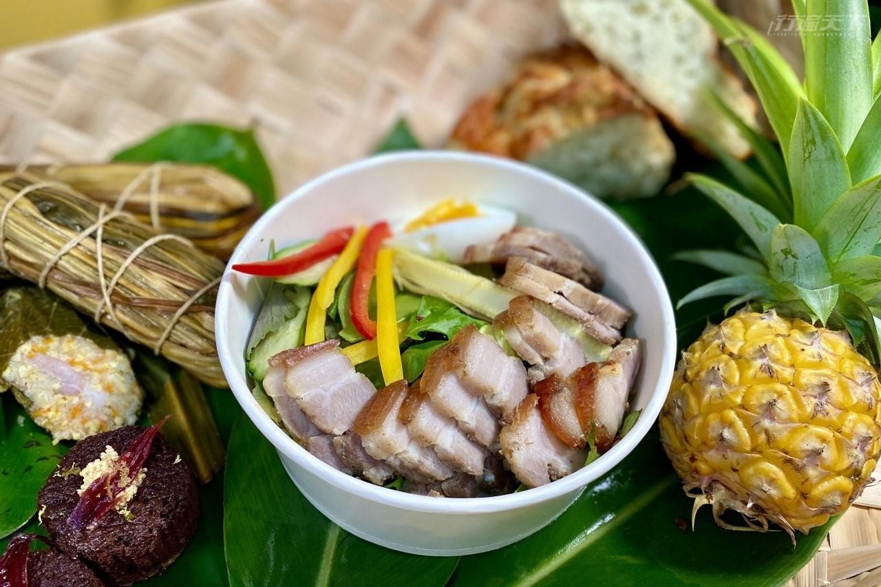 ▲達興山號的焚風野餐箱和無菜單料理,可以外帶去野餐。
